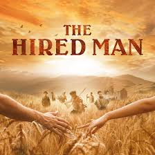 "Poster for the 2019 production of ""The Hired Man"" at the Queen's Theatre, Hornchurch."