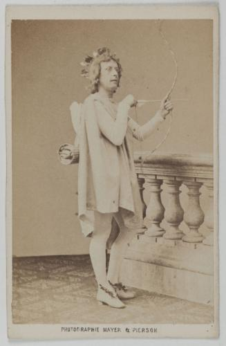 Léonce in a particularly camp pose - dressed up as Cupid. (Photo: Musée Carnavalet, Histoire de Paris)