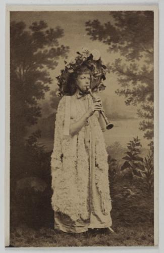"Léonce playing the flute, possibly as Pan in Offenbach's ""Daphnis et Chloë."" (Photo: Musée Carnavalet, Histoire de Paris)"