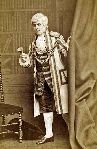 "Mons. Marius as he appeared in H.B. Farnie's English version of Offenbach's ""Madame Favart"" at the Strand Theatre, London, in 1879."
