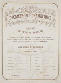 """Cover of Jacques Offenbach's """"Décaméron dramatique. Album du Théâtre Français."""""""