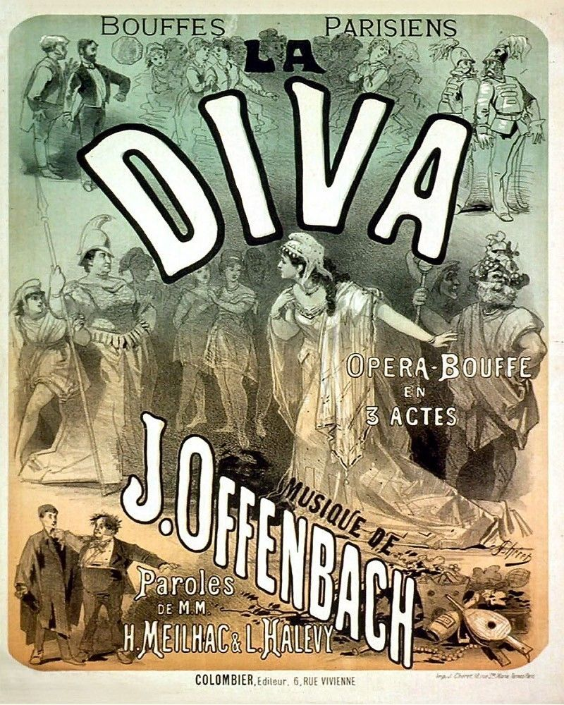 "Poster for Offenbachs ""La Diva."""