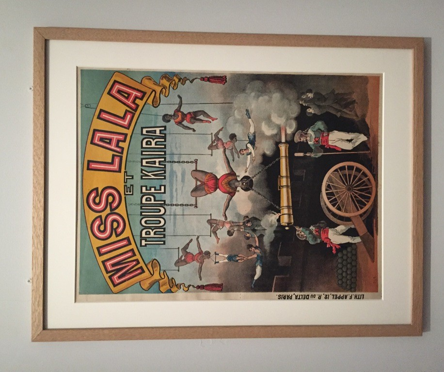 "Poster for Miss Lala's circus act, as seen in the exhibition ""Le Modèle Noir"" at the Orsay Museum, 2019."