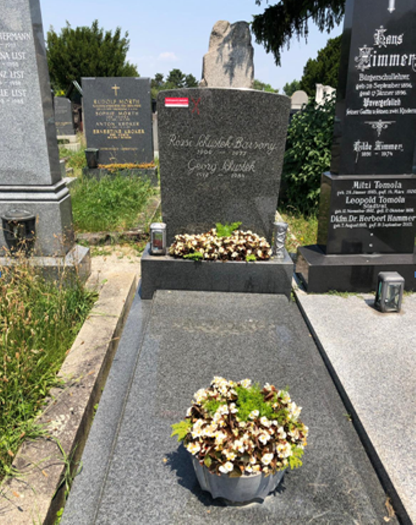 The grave of Rosy Barsony in Vienna. (Photo: Elmar Joura)