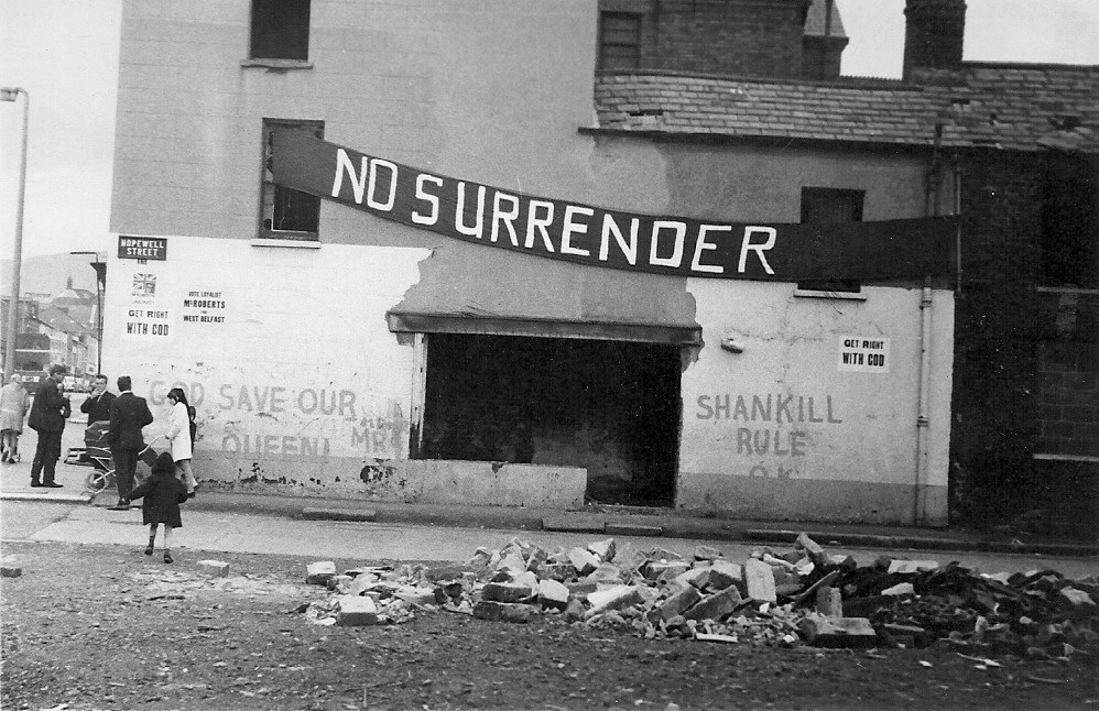 The Shankill Road, Belfast, during the troubles in 1970. (Photo: Fribbler/Wikipedia)
