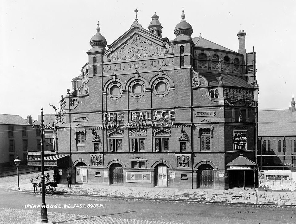 The Belfast Grand Opera House, in 1910. (Photo: National Library of Ireland)