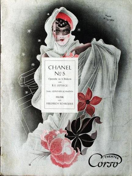 """Playbill cover for the Friedrich Schröder operetta """"Chanel No. 5."""""""