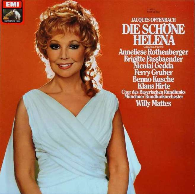 "The cover for the EMI recording of ""Die schöne Helena"" with Anneliese Rothenberger in the title role. (Photo: EMI/Warner Classics)"