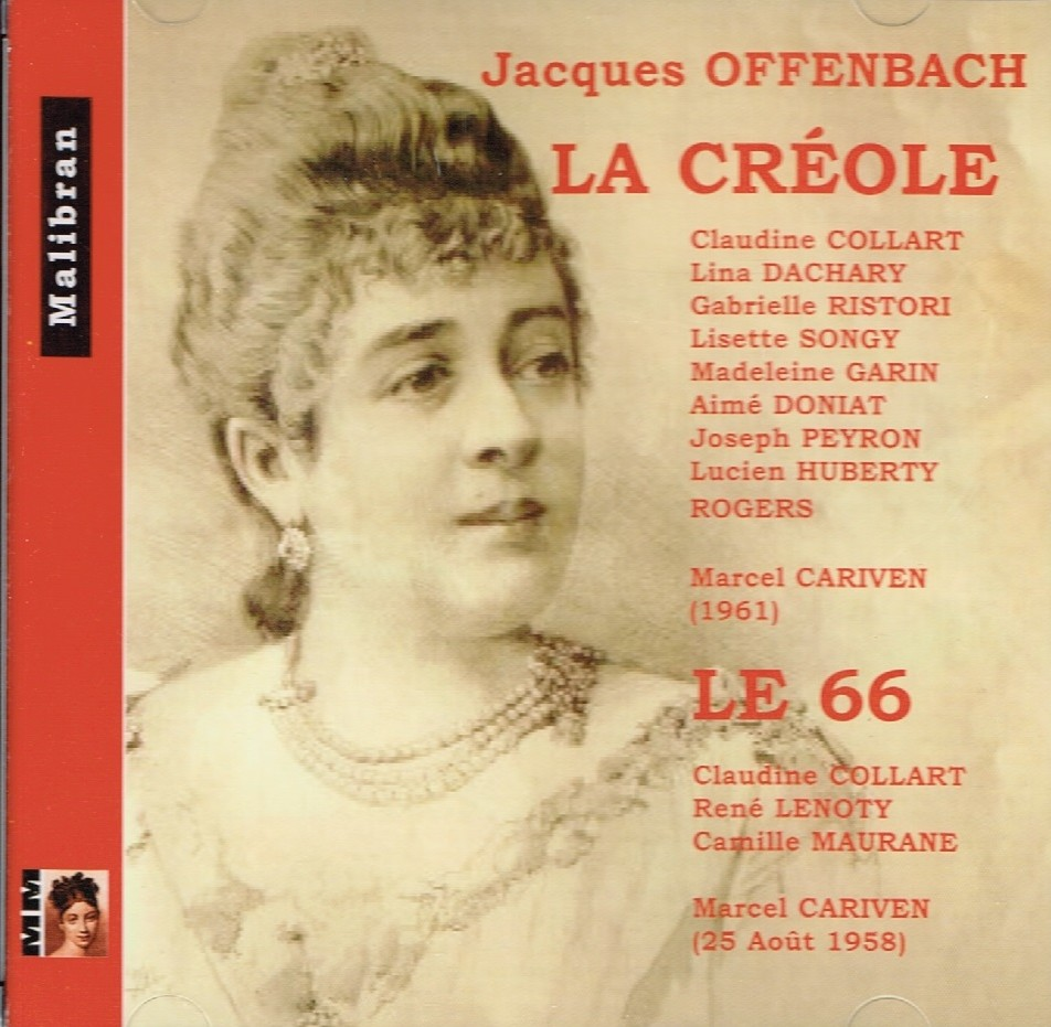 "Cover for the Malibran version of ""La Créole"" featuring Lina Dachary."