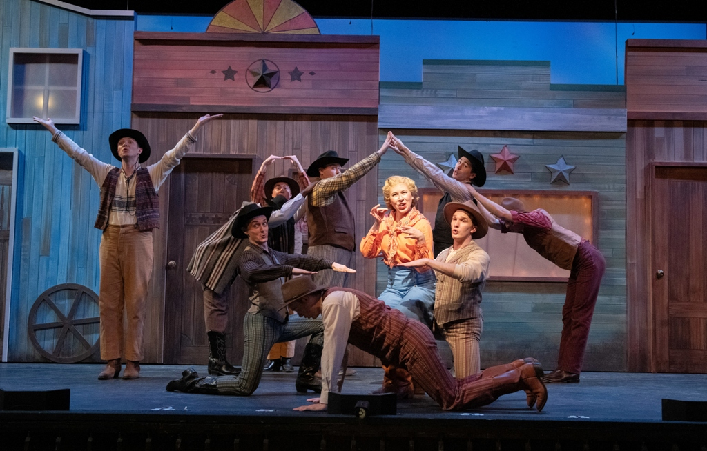 "Scene from the ""Girl Crazy"" production at Ohio Light Opera, 2019. (Photo: Matt Dilyard)"