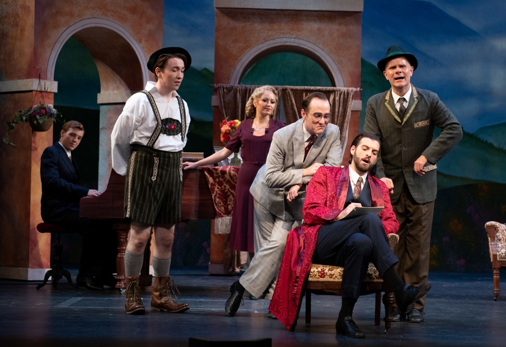 "Scene from the 1932 Bavarian yodel operetta ""Music in the Air"" by Jerome Kern and Oscar Hammerstein II at the Ohio Light Opera, 2019. (Photo: Matt Dilyard)"