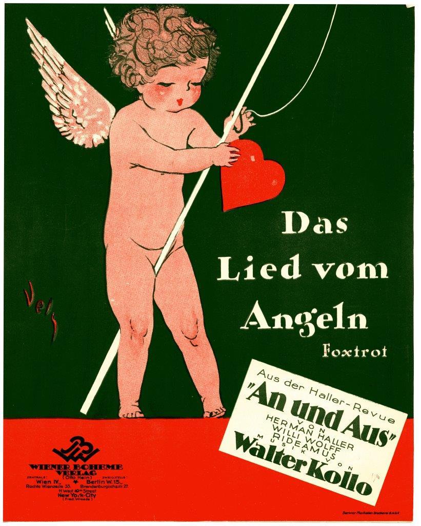 """Walter Kollo's """"Das Lied vom Angeln"""" from the revue """"An und Aus."""" (Photo: Evelin Förster Collection)"""