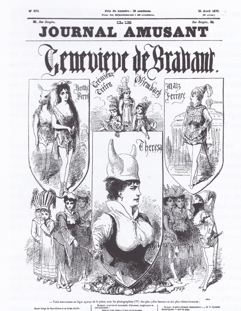 "The cover of the ""Journal amusant"" showing ""Geneviève de Brabant"" in April 1875."
