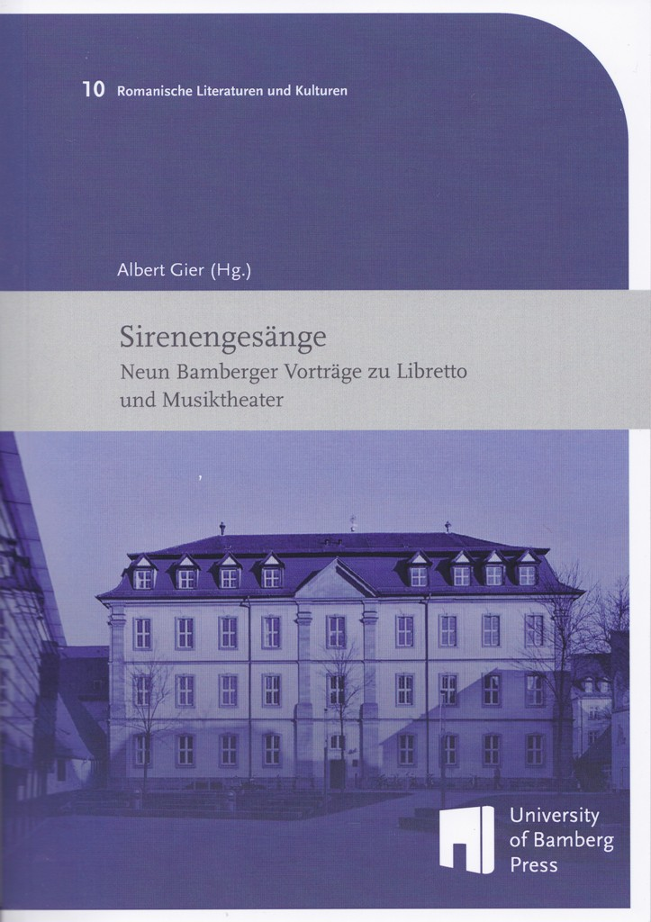 "The cover of ""Sirenengesänge"" edited by Albert Gier. (University of Bamberg Press)"