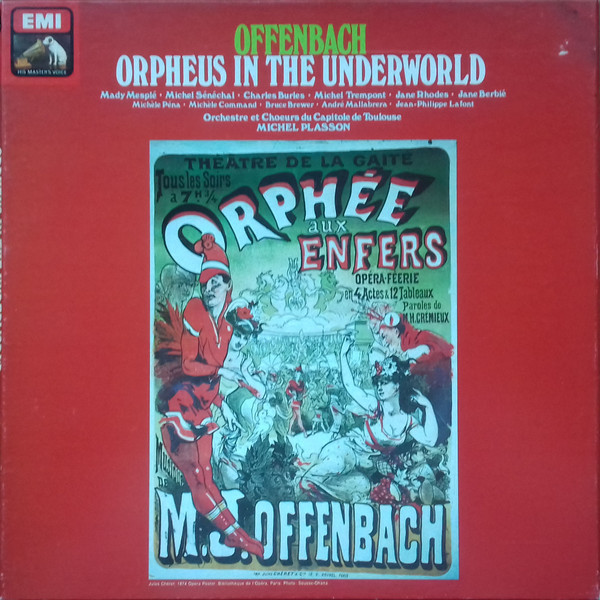 "The EMI recording of ""Orphée aux enfers"" conducted by Michel Plasson. (Photo: EMI)"