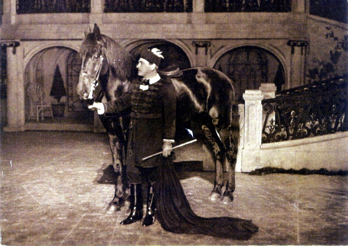 "Hubert Marischka in the title role, in the original 1932 production of ""Der Teufelsreiter."" (Photo: Archive Operetta Research Center)"