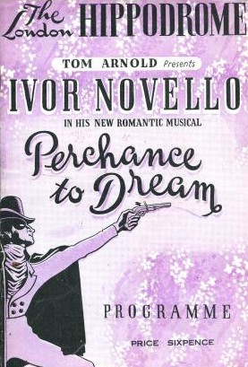 "Program for the original 1945 production of ""Perchance to Dream"" in London."