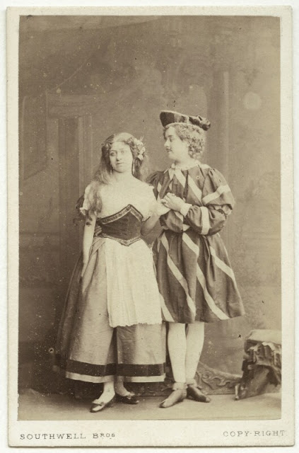 "Lydia Maitland and Sophia Pelham in ""Rumpelstiltskin."" (Photo: Kurt Gänzl Archive)"