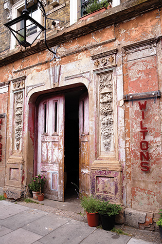 The front door of Wilton's Music Hall in London. (Photo: James Perry/Wikipedia)