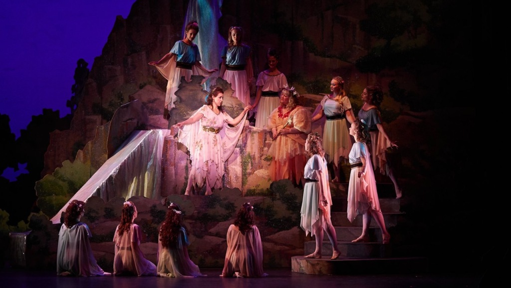 "Amy Maude Helfer, Angela Christine Smith and the chorus in ""Iolanthe"" in New York (Photo: William Reynolds)"