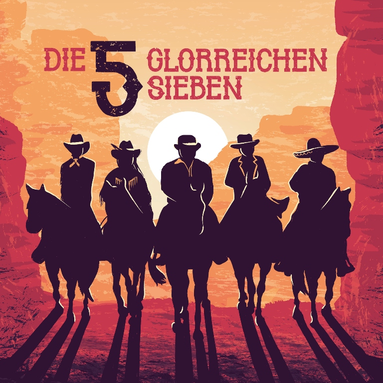 "The poster for ""Die 5 glorreichen Sieben"" at Bar jeder Vernunft (Photo: upstruct.com)"