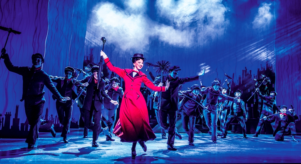 """Zizi Strallen performing """"Step In Time"""" from """"Mary Poppins,"""" 2019. (Photo: Johan Persson)"""