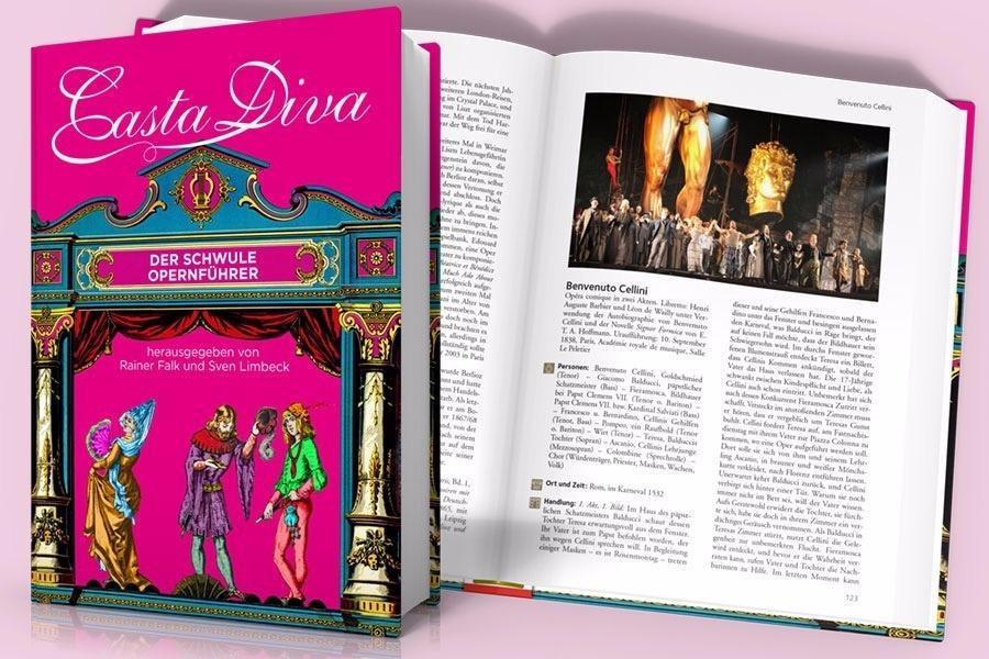 """""""Casta Diva: Der schwule Opernführer"""" edited by Rainer Falk und Sven Limbeck. (Photo: Querverlag)"""