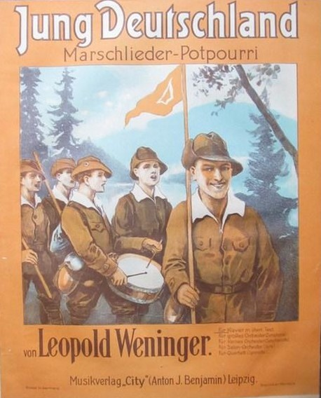 "An edition of marching songs by Leopold Weninger called ""Young Germany."""