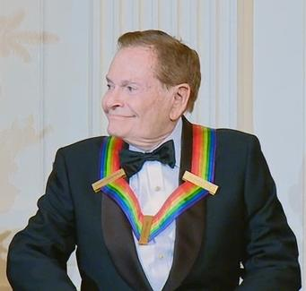 Jerry Herman at the White House for the 2010 Kennedy Center Honors. (Photo: Kennedy Center Honorees at The White House 2010 / US  Federal Government)