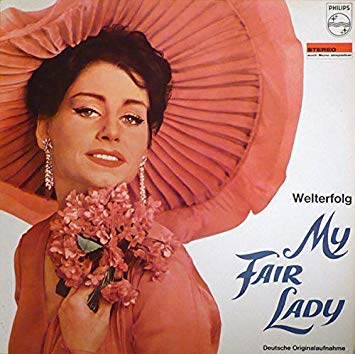 "One of many ""My Fair Lady"" recordings on LP, this one in German."