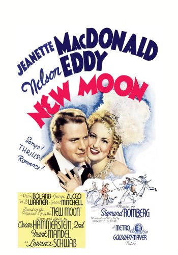 "Poster for the film version of ""The New Moon"" starring Jeanette MacDonald and Nelson Eddy."
