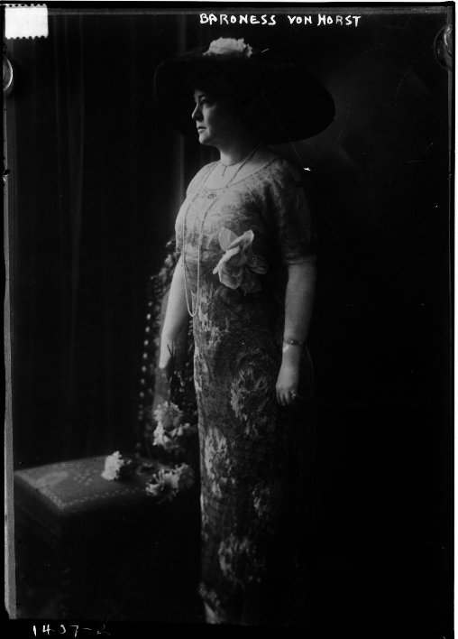 Baroness von Horst, in a portrait from the Library of Congress.