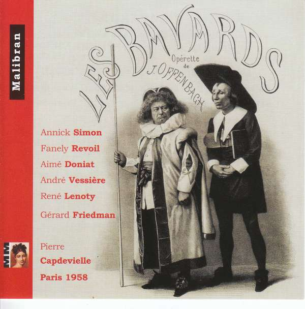 "Cover for the CD of ""Les Bavards"" by Offenbach with Fanely Revoil."