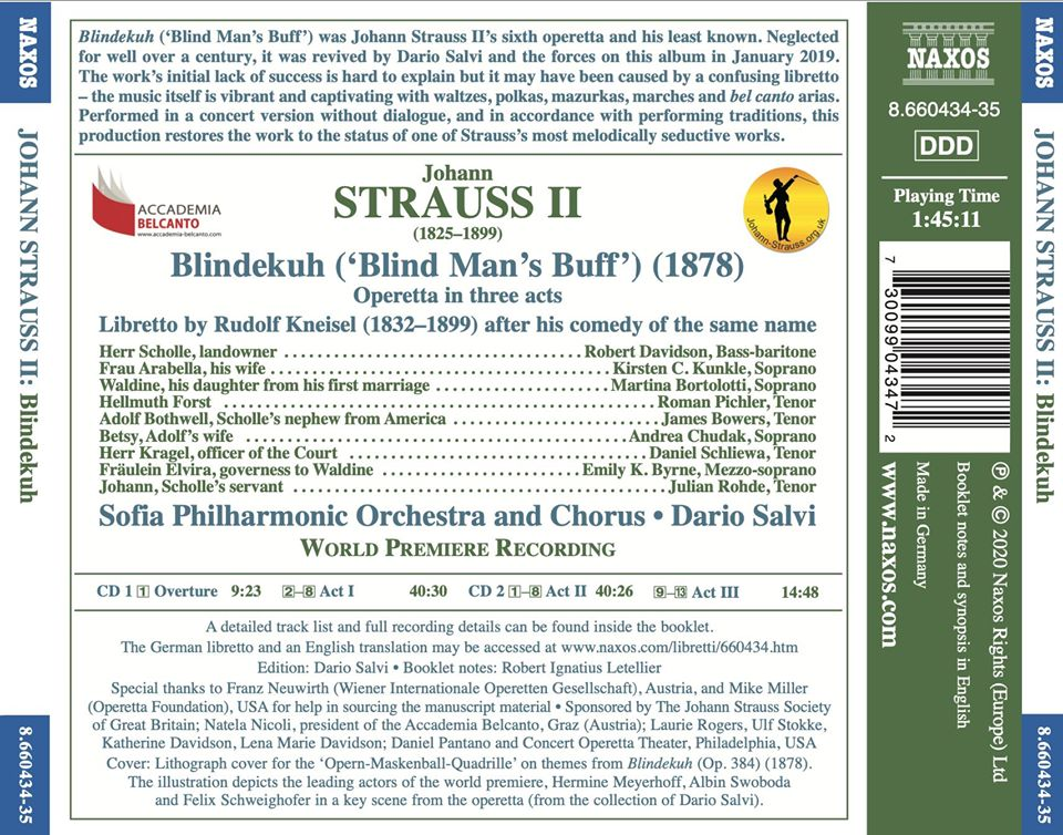 "The back side of the new ""Blindekuh"" recording on Naxos."