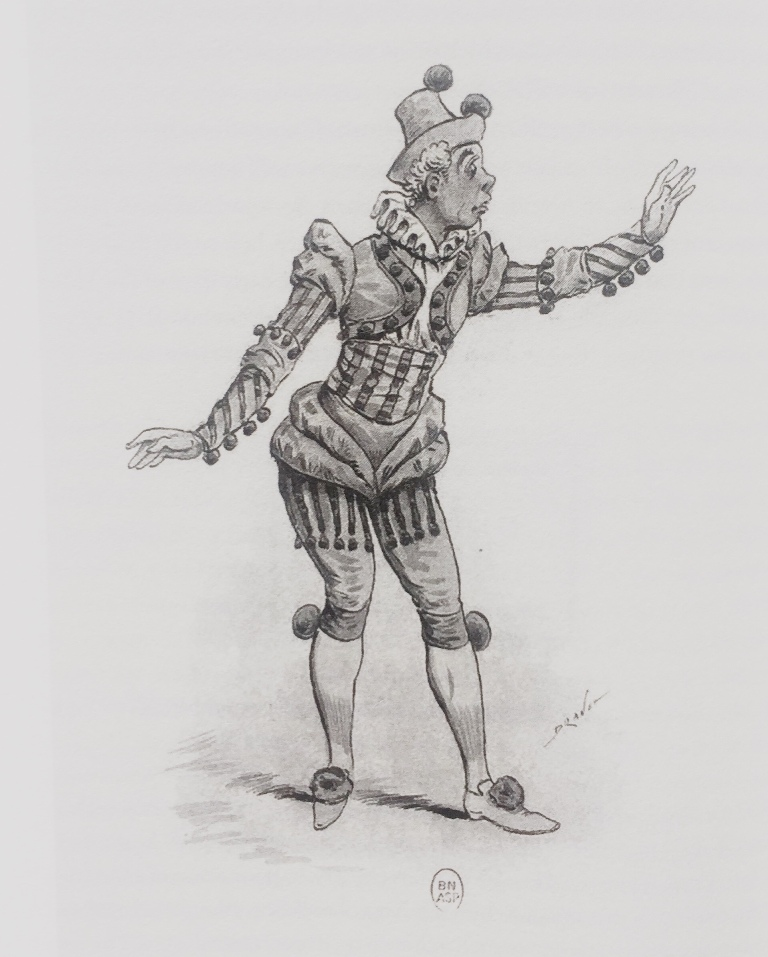 Costume design for Guardona. (Photo: Bibliothèque Nationale de France, Paris)