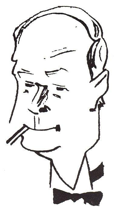 Der Komponist Maurice Yvain. (Photo: Karikatur von Georges Bastia)