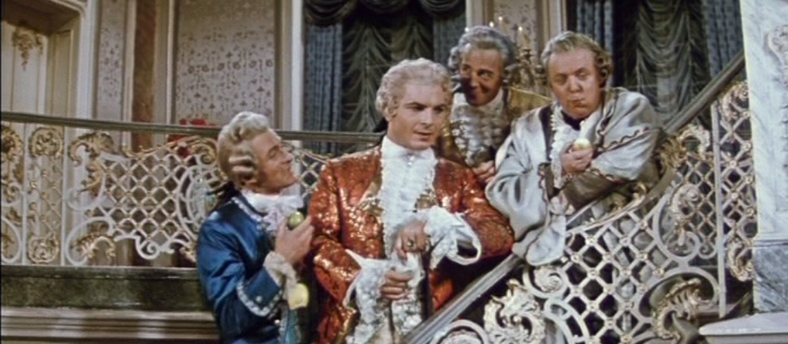 "The world of the aristocracy in ""Die schöne Lurette."" (Photo: Screenshot from the 1960 DEFA film version)"