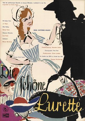 "Poster for the 1960 DEFA movie ""Die schöne Lurette."""