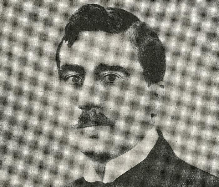 """Der Autor André Barde. (Photo: Programme original de """"Un Bon garçon"""" / Nouveautés, 1926)"""