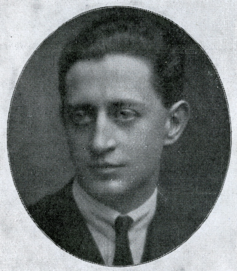 """Der Komponist Raoul Moretti. (Photo: Programme original de """"Comte Obligado !"""" / Nouveautés, 1927)"""