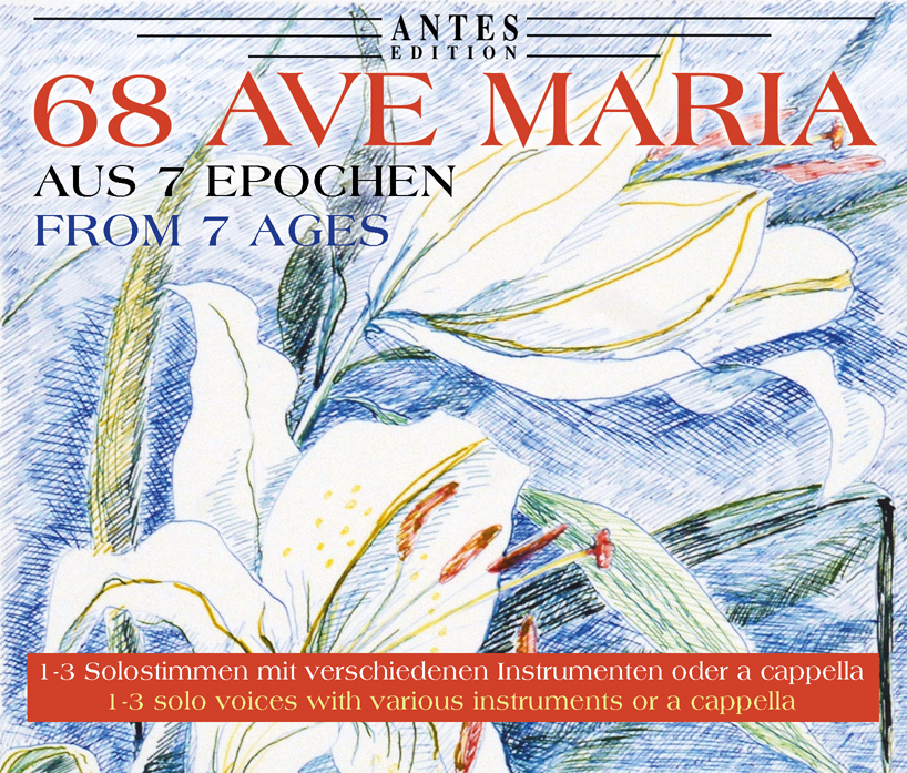 "The cover of the CD box ""68 Ave Maria."""