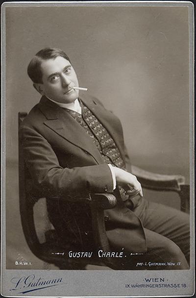 Impressario und Schauspieler Gustav Charlé. (Foto: Ludwig Gutmann, Theatermuseum Wien)