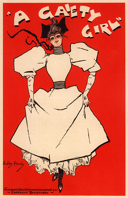 "Dudley Hardy lithograph poster for ""A Gaiety Girl"" from ""Les Maitre de L'Affiches"" series, 1896."