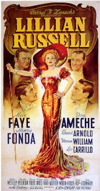 """Poster for the 1940 movie """"Lillian Russell."""" (Photo: 20th Century Fox)"""
