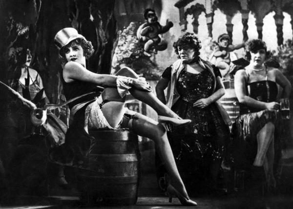 "Publicity photograph for the film ""Der Blaue Engel,"" 1930, featuring Marlene Dietrich. (Photo: Wikipedia)"