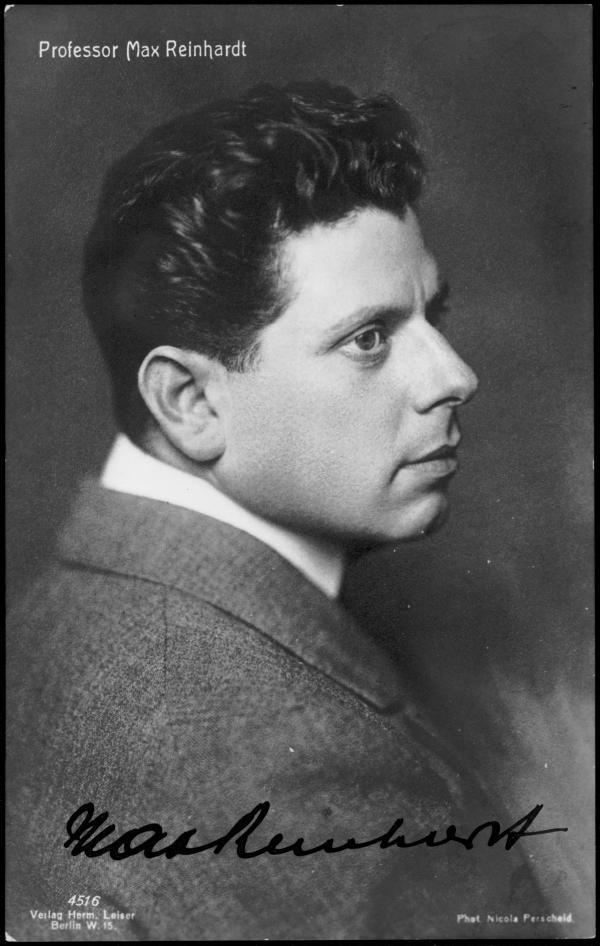 Max Reinhardt auf einer signierten Postkarte, 1911. (Photo: Nicola Perscheid)