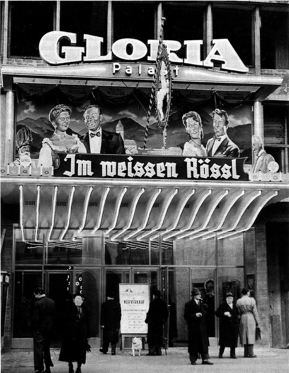 """Im weißen Rössl"" at the Gloria Palast cinema in Berlin, 1952. (Photo: Archive of the Operetta Research Center)"