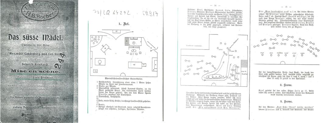 """Das Regiebuch zu Heinrich Reinhardts  Operette """"Das süße Mädel"""". (Foto: Archiv Marion Linhardt)"""