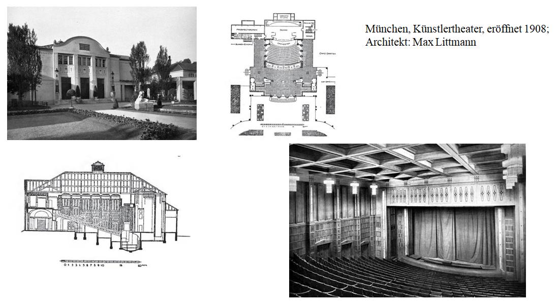 Das Künstlertheater in München, eröffnet 1908; Architekt: Max Littmann. (Foto: Archiv Marion Linhardt)