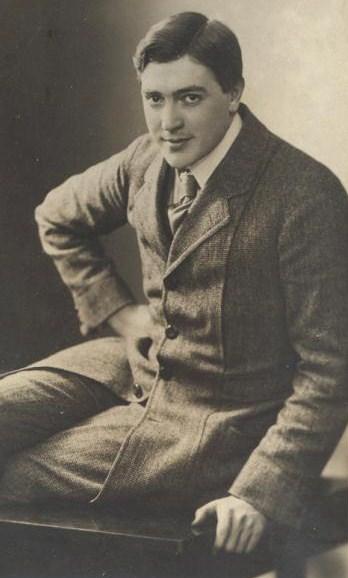 Walther Brügmann als junger Schauspieler der Städtischen Bühnen Leipzig.